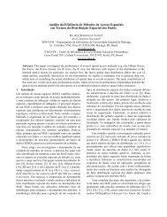 Análise da Eficiência de Métodos de Acesso Espaciais em Termos ...