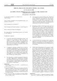 DIRECTIVA 2004/27/CE DEL PARLAMENTO EUROPEO Y ... - BOE.es