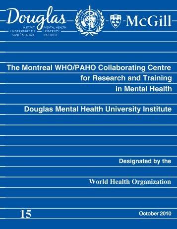CC - Centre activities report (2008-2010) - Institut universitaire en ...