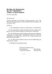 Schutz vor Passivrauchen - Wahlen & Abstimmungen