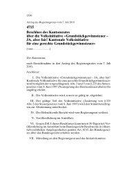 JA, aber fair! Kantonale Volksinitiative - Wahlen & Abstimmungen