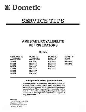 english francais et can 10 14 04 refrigerator service tips for s1521 bryant rv services