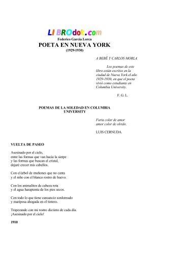 Poeta en Nueva York - Universidad de Chile