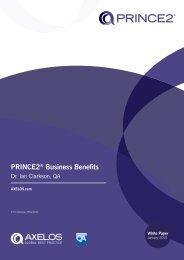 PRINCE2 Business Benefits - Best Management Practice