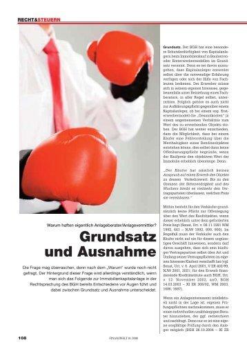 Grundsatz und Ausnahme - Dr. iur. Klaus-R. Wagner