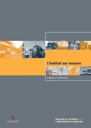 L'habitat sur mesure - Ministère du logement