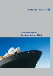 Leistungsbilanz 2008 - Norddeutsche-vermoegen-holding.de