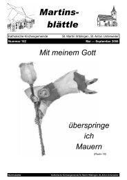 Martinsblättle 162, Mai - September 2008 (1,2 ... - Ulm-basilika.de
