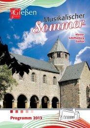 Programm Musikalischer Sommer 2013 (PDF, 7,1 MB)