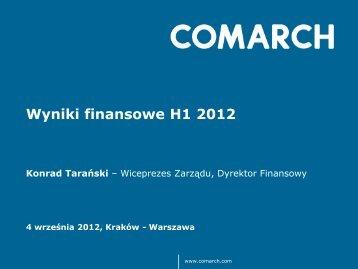 Wyniki finansowe H1 2012 - Comarch