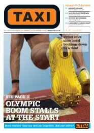 AT THE START OLYMPIC BOOM STALLS - TAXI Newspaper