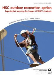 HSC outdoor recreation option - Borambola - NSW Sport and ...
