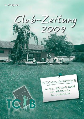 VEREINS-SPIELPLAN 2009 TENNIS-CLUB ... - TC Bürgstadt