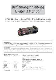 Startbox Universal 1/8 bis 1/10 Kohledes s - CMC Versand