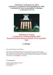"""Einladung zur Tagung """"Archäometrie und Denkmalpflege 2010 ..."""