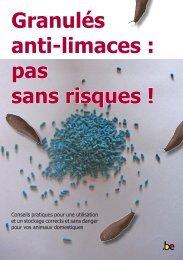 Granulés anti-limaces : pas sans risques ! - Cadco