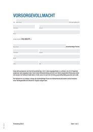 Patientenverfügung / Vorsorgevollmacht - BHS Invest AG