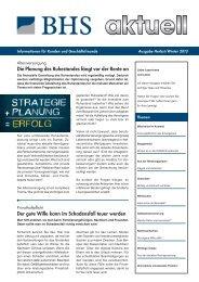 Die Planung des Ruhestandes fängt vor der Rente ... - BHS Invest AG