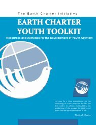 Contents EARTH CHARTER YOUTH TOOLKIT