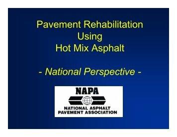 Pavement Rehabilitation Using Hot Mix Asphalt - National ...