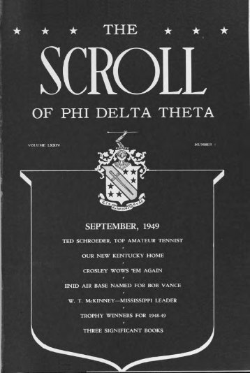 1949–50 Volume 74 No 1–5 - Phi Delta Theta Scroll Archive