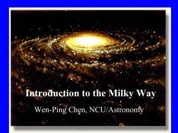 Introduction to the Milky Way