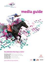 media guide - Melbourne Cup