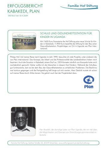 Erfolgsreporting Plan 2009.09.22.indd - Stiftungszentrum