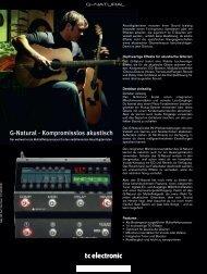 G-Natural - Kompromisslos akustisch - TC Electronic