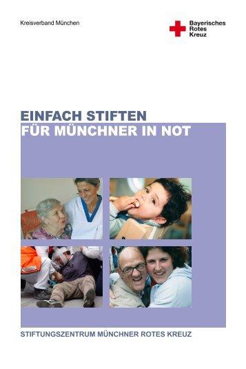 EINFACH STIFTEN FÜR MÜNCHNER IN NOT - Stiftungszentrum