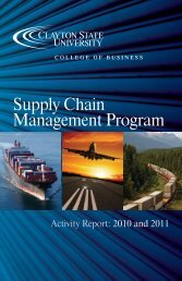 Supply Chain Management Program - Clayton State University