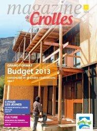 Budget 2013 - ville de Crolles