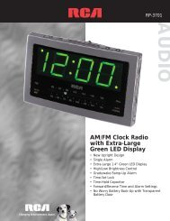 AM/FM Clock Radio with Extra-Large Green LED Display