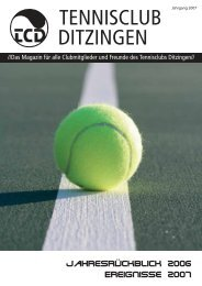 Kostenfrei und unbegrenzt Neukunden ... - Tennisclub Ditzingen