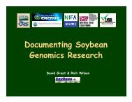 Documenting Soybean Genomics Research - SoyBase