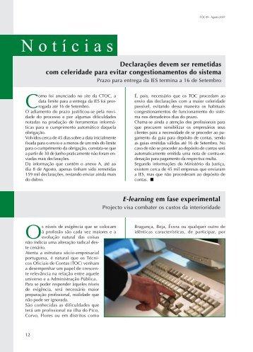 Notícias - Ordem dos Técnicos Oficiais de Contas