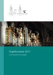 Orgelkonzerte 2011 - Wallfahrt Einsiedeln