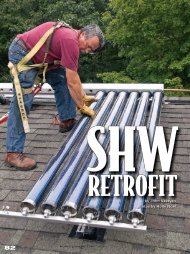 installation of solar thermal systems