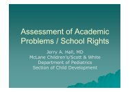 Assessment of Academic Problems / School Rights - Healthcare ...