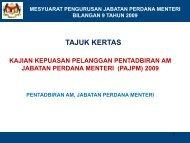 Laporan Kajian Kepuasan Pelanggan JPM 2009 - Jabatan Perdana ...