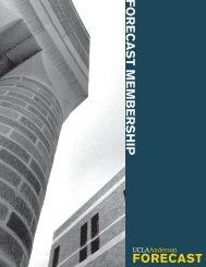 FORECAST MEMBERSHIP - The UCLA Anderson Forecast