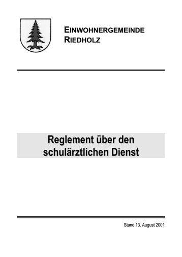 Schulärztlicher Dienst - Gemeinde Riedholz