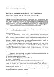 Properties of compressed laminated beech wood by bending stress
