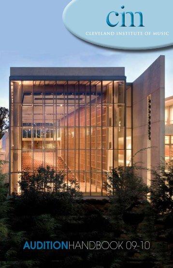 AUDITIONHANDBOOK 09-10 - Cleveland Institute of Music