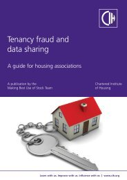 Tenancy Fraud and Data Sharing - Chartered Institute of Housing