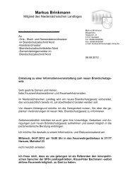 Einladung Feuerwehr - Klaus-Peter Bachmann