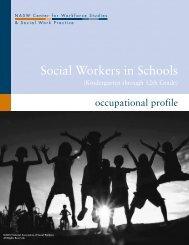 Social Workers in Schools - Center for Workforce Studies - National ...
