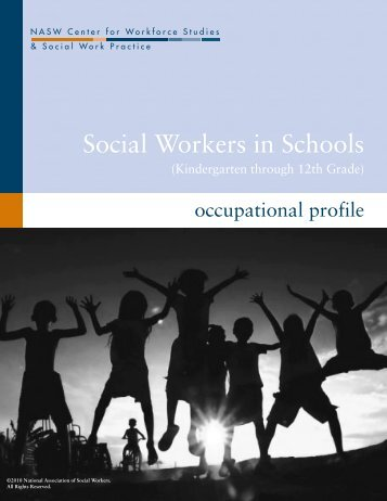 Social Workers in Schools - Center for Workforce Studies - National ...