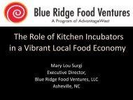 The Role of Kitchen Incubators in a Vibrant Local Food Economy