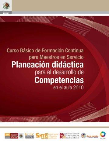 Curso básico de formación continua: Planeación didáctica ... - cuaed